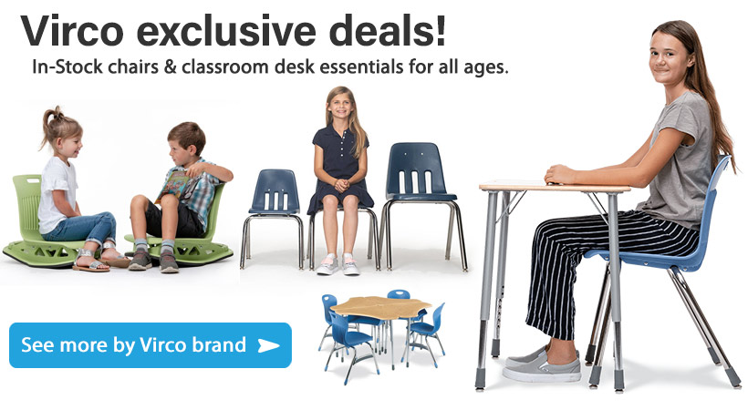 Save on Virco Classroom Desk & Chair Furniture!