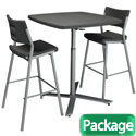 Click here for more Cafe Time Table & Stool Sets by National Public Seating by Worthington