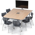 Click here for more Interchange Half Boat Multimedia Table by Smith System by Worthington