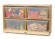 Click here for more Jumbo Mobile Tote Storage Units with Clear Totes + Lids by Jonti-Craft by Worthington