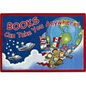 Click here for more Books Can Take You Anywhere Carpet by Joy Carpets by Worthington