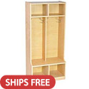 Click here for more Birch 2-Section Coat Locker by ECR4Kids by Worthington