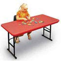 Click here for more Colorful Plastic Resin Folding Tables by Correll by Worthington