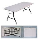 Click here for more Plastic Resin Fold in Half Table by Correll by Worthington