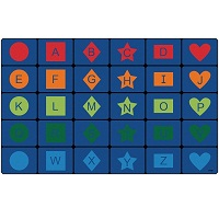 Click here for more Simple Shapes Seating Rug by Carpets for Kids by Worthington