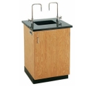 Click here for more Science Lab Service Island with Solid Epoxy Top by Diversified Woodcrafts by Worthington