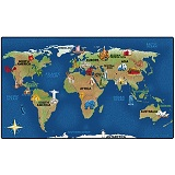 Click here for more Maps & Geography Rugs by Worthington