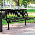 Click here for more Kensington Outdoor Bench with Back by UltraPlay by Worthington
