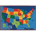 Click here for more USA Map ValuePlus Rug by Carpets for Kids by Worthington