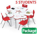 Click here for more Cloud 9 Dry Erase Desk & Hierarchy Chair Packages by Mooreco by Worthington