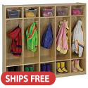 Click here for more Birch 5-Section Coat Locker by ECR4Kids by Worthington