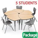 Click here for more Economy Shapes Desk & Hierarchy Chair Packages by Mooreco by Worthington
