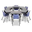 Click here for more 785 Desk with Collaborative Top by Virco by Worthington