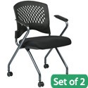 Click here for more Deluxe Nesting Folding Mobile Arm Chair- Set of 2 by Office Star by Worthington