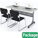 Click here for more Plastic Flip-n-Store Table & Padded Chair Package by National Public Seating by Worthington