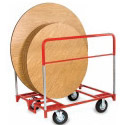 """Click here for more 48, 60 or 72"""" Round Folding Table Trucks with Rubber Tires by Raymond by Worthington"""