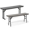 Click here for more Hexalite ABS Plastic Folding Seminar Tables by Midwest by Worthington