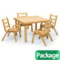 Click here for more NaturalWood Table & Chair Sets by Angeles by Worthington