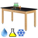 Click here for more Phenolic Adjustable Wooden Leg Science Tables by Diversified by Worthington