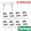 Click here for more Round Folding Table & Padded Folding Chair Package by National Public Seating by Worthington