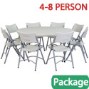 Click here for more Round Folding Table & Plastic Folding Chair Packages by National Public Seating by Worthington