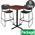 Click here for more Cain Barstool Height Table and Two Zeng Stools by Regency by Worthington