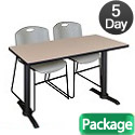 Click here for more Cain Base Training Table & Zeng Chairs by Regency by Worthington