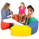 Click here for more Rainbow Circle Soft Seating Set by The Children's Factory by Worthington