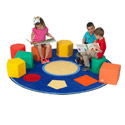 Click here for more Shape Sorter Seats and Educational Rug by the Children's Factory by Worthington