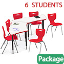 Click here for more Dry Erase Trapezoid Creator Table & Hierarchy Chair Packages by Mooreco by Worthington