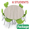 Click here for more Half Round Creator Table & Hierarchy Chair Packages by Mooreco by Worthington