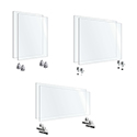 """Click here for more Clear Acrylic Screen Kits (24""""H) by OfficeSource by Worthington"""