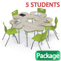 Click here for more Cloud 9 Desk (Small) & Hierarchy Chair Packages by Mooreco by Worthington