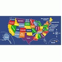 Click here for more US Map Carpet by Learning Carpets by Worthington