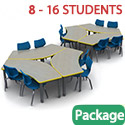 "Click here for more Classroom Set - 72"" Crescent Tables & Flavors Chairs by Smith System by Worthington"