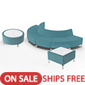 Click here for more Jefferson Outside Curve Lounge Set by Woodstock Marketing by Worthington