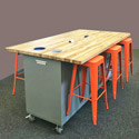 The Ed 6 Table w/ 6 Magnetic Stools by CEF