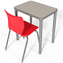 Click here for more Elemental Rectangle Student Desk by Smith System by Worthington