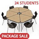Click here for more Classroom Set- 24 Elemental Triangle Desks & Flavors Chairs by Smith System by Worthington