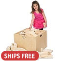 Click here for more Wooden Unit Block Cart by ECR4Kids by Worthington