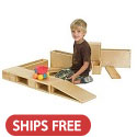 Click here for more Wooden Hollow Blocks by ECR4Kids by Worthington