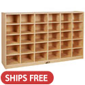 Click here for more Jumbo 30 Cubbie Tray Birch Storage Unit by ECR4Kids by Worthington