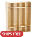 Click here for more Birch 4-Section Streamline Coat Locker by ECR4Kids by Worthington