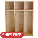 Click here for more Birch 3-Section Streamline Toddler Coat Locker by ECR4Kids by Worthington