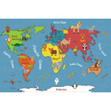 Click here for more Animals of the World Activity Rug by ECR4Kids by Worthington