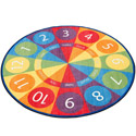 Click here for more Tick Tock Clock Carpet by ECR4Kids by Worthington