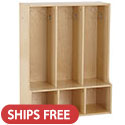 Click here for more Birch 3-Section Streamline Toddler Coat Locker with Bench by ECR4Kids by Worthington