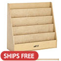 Click here for more Birch Streamline Single-Sided Book Display by ECR4Kids by Worthington