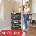Click here for more 4-Tier Utility Rolling Cart by ECR4Kids by Worthington