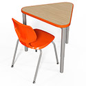 Click here for more Elemental Triangle Student Desk by Smith System by Worthington